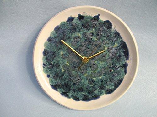 Wanduhr, Uhr, Keramik-Uhr, getöpferte Desinger-Uhr, 23 x 3,5 cm