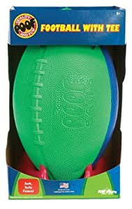 POOF-Slinky 555TEE POOF 9.5-Inch Foam Football with Kicking Tee, Assorted Colors by Poof TOY (English Manual)
