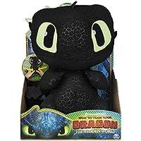 Dragons - Movie Line - 6046841 - Squeeze & Growl, Plüschfigur mit Sound - Ohnezahn (Solid), Drachenzähmen leicht gemacht 3, Die geheime Welt