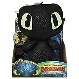 Dragons 3 - 6046841 - Jeu enfant - Peluche interactive - Peluche deluxe sonore Krokmou - Film Dragons 3 Le Monde Caché - Version Allemande