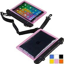 Funda resistente al agua tipo sobre Voda de Cooper Cases(TM) para tablet de Samsung Galaxy Tab 3 8.0 (T311/T315/T310) en Rosa (diseño ligero, ventana táctil, hermética, asa para hombro ajustable)