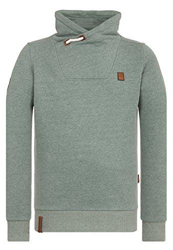 Naketano Male Sweatshirt Congenialer Pimmel III Leaf Green Melange