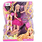 Best GENERIC Toys For 5 Yr Old Girls - O&B Bettina Doll Hair Studio Pink Black Hairtastic Review