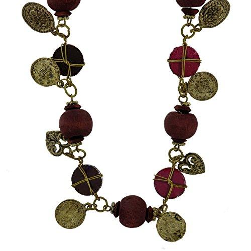Behave Vintage Anhänger Halskette für Frauen - Moderne Perlenkette mit Herz Anhänger - Herz Halskette für sie -