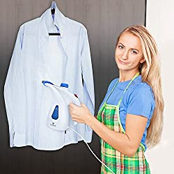 J GO Garment Steamer Portable Garment Steamer Fabric Steamer, Facial Steamer, Portable Dual Power Travel Iron Steamer