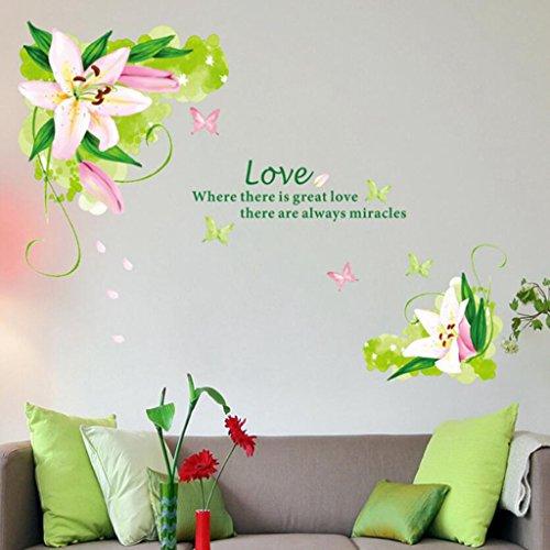 Longless Frische grüne Blätter grün Blatt Aufkleber, kreative Heimwerker, Haus Verschönerung Dekoration Aufkleber, PVC abnehmbare Wasserdichte einfügen