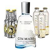 Gin Mare (1 x 0.7 l) mit 1724 Tonic Water (3 x 0.2 l) und Thomas Henry Tonic (3 x 0.2 l)
