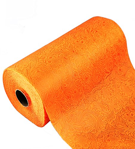Tischläufer 25 m Hochzeit Taufe Konfirmation Kommunion Tischband 30cm (0,8€/m) (orange)