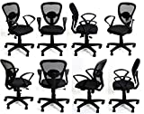 TimberTaste 8 Pieces Dolly Black office computer task conference visitor chair (Set of 8)