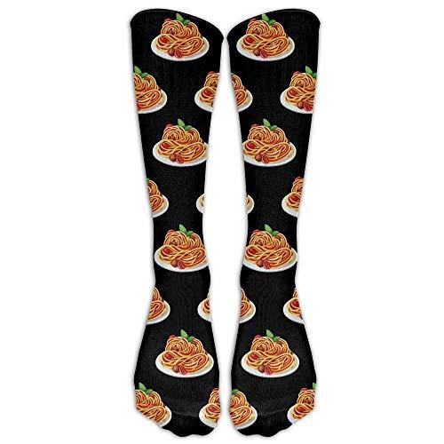 Women&Men Spaghetti Italian Food Mid Calf Crew Socks Tube Stockings Boot Socks One Size