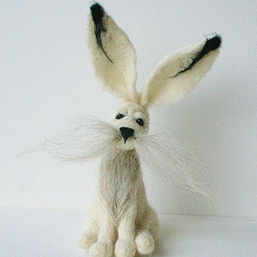 winter-hare-needle-felting-kit-beginners-and-improvers-combined-postage-refund-if-ordering-more-than