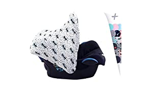 JANABEBE Universal Hood Canopy for Baby Carriers and Group 0 Chairs (Raccoon)
