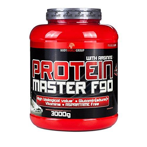 BWG Protein Master F90, Eiweißshake mit BCAA`S und Glutamin, Muskelaufbauphase, Deluxe Proteinshake Vanilla, Dose mit Dosierlöffel, Muscle Line, 1er Pack (1 x - Egg Vanille Protein