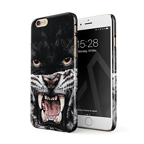 BURGA Hülle Kompatibel mit iPhone 6, iPhone 6s Handy Huelle Lethal Hunter Savage Wild Panther Vs Tiger Dünn, Robuste Rückschale aus Kunststoff Handyhülle Schutz Case Cover Fell Hunter