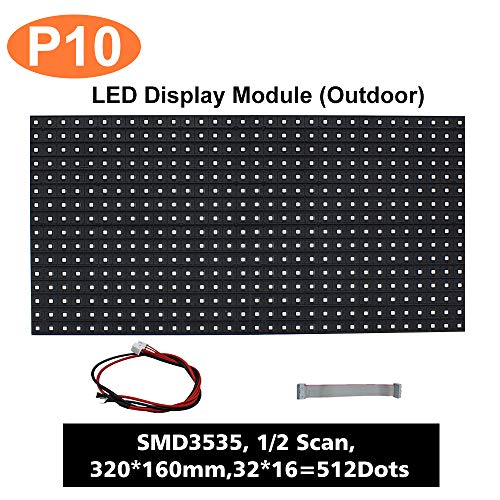 (P10) LED Matrix Module, Full RGB Digital Pixel Panel Screen with 512 dots,  1/2 Scan, 5000 Nits Brightness For Outdoor Display(Size: 320 * 160mm)
