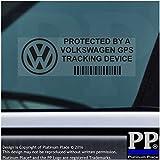5X Ppvolkswagengpsblk appareil de suivi GPS Noir Sécurité pour fenêtres Stickers 87x Installed on This Vehicle, van Alarme tracker