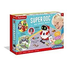 Clementoni- Sapientino-SuperDoc, Robot éducatif pour Enfants (Version Italienne), Multicolore, 12094