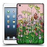 Head Case Designs Wagt Zu Wachsen Gestickter Druck Zitate Ruckseite Hülle für iPad Mini 1 / Mini 2 / Mini 3