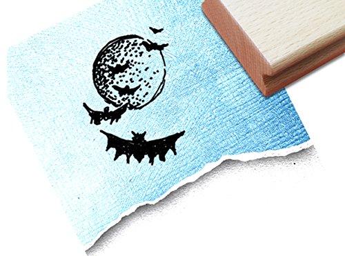 inderstempel Motivstempel Halloweenstempel - Fledermäuse bei Nacht - Bilderstempel zum Ausmalen für Kita - Kinderzimmer - Schule und Beruf (Drucken Malvorlagen Halloween)
