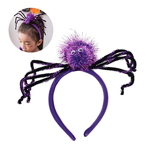 YXYXN Halloween-StirnbäNder, Spinnen Stirnband Halloween KostüM Stirnband FüR KostüM Anzieh Partei Versorgungsmaterialien FüR Teenager Kinder, 2Pcs,Purple (Teenager Schwarze Witwe Kostüm)