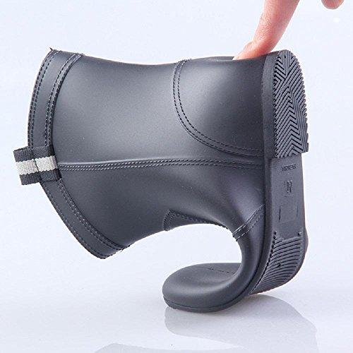Pvc dame adulte mode bottes antidérapantes bottes de pluie Black