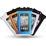 "Theoutlettablet® Funda acuática sumergible de protección para smartphone Bq aquaris E4 4"" COLOR - ROSA (Mod:S-410)"