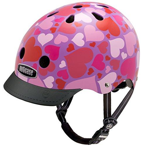 utcase - Straßen Fahrradhelm, Passt auf deinen Kopf, Passt zu deiner Seele - Lotsa Love, Mittel (Jugend Herz)