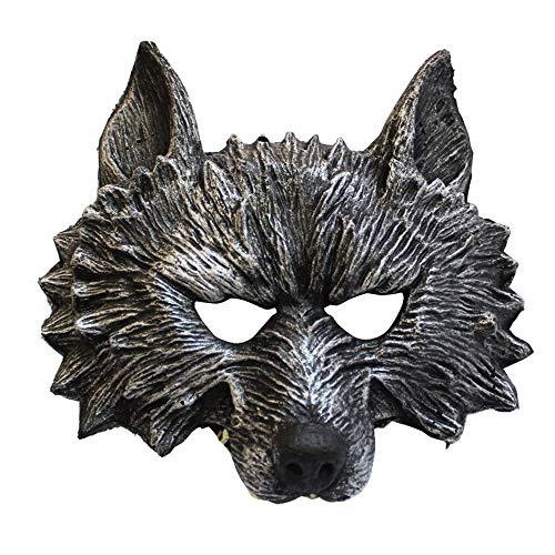 wsjwj Masken für Erwachsene Halloween Maskerade Tier Party Leistung Wolf Maske Bar Horror Maske Maske ()