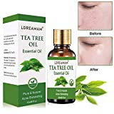 Aceite esencial de árbol de té, aceite de acné natural, para la aplicación en pieles con impurezas, cuidado de limpieza, anti piquetas, contra el acné, antiinflamatorio, agradable al tacto.