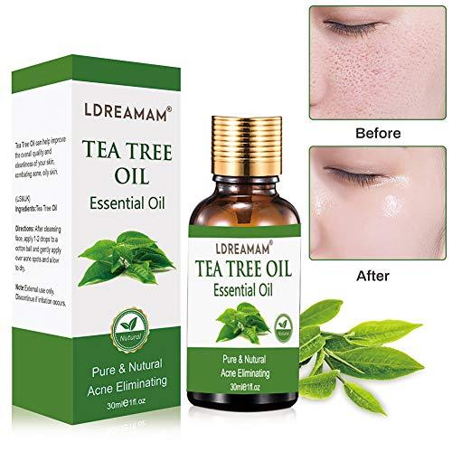Teebaumöl,naturreines ätherisches Öl,Akne Öl,zur Anwendung auf unreiner Haut,Pflege Reinigung,Anti Pickel,Gegen Akne,Entzündungshemmend,Hautsympathisch -