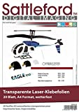 Sattleford 20 Klebefolien A4 für Laserdrucker transparent