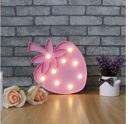 (Gono LED Deko Licht Nachtlicht Foto Geschenk Home Dekoration Einheitsgröße erdbeere)