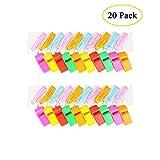 Boocy: 20 silbatos coloridos de plástico para árbitro o entrenador de escuela, deporte y fiesta