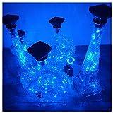 Flaschen Licht Flaschenlichter Lichterketten Nacht Licht Weinflasche Flaschenlicht Kork Flaschen Licht LED Lichter Lichterkette Flaschen DIY Party Hochzeit Stimmung Lichter (Blau)