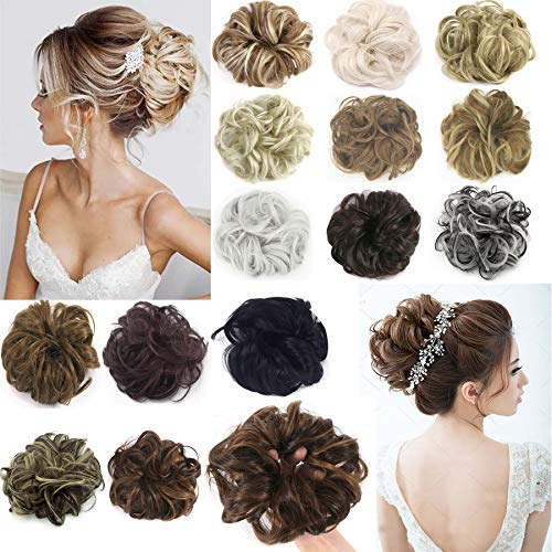 FLORATA Updo Hairpiece Curly Mes...