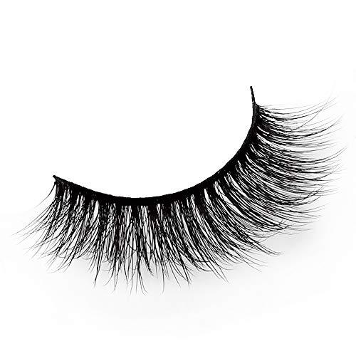 ✿Higlles 3D Faux Cils Effet Naturel Professionnel 5 Paires, Longue Extension de Cils pour Femmes Maquillage Doux Faux Cils