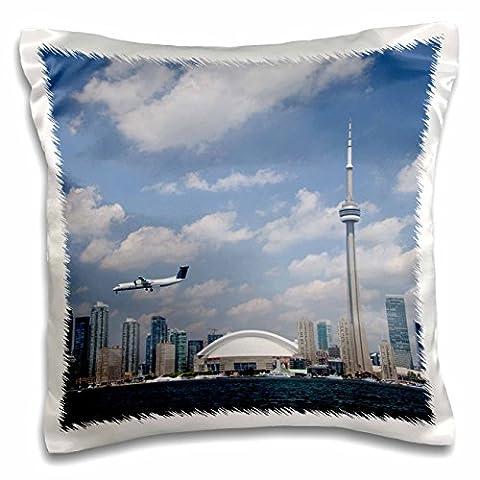 Danita Delimont - Skylines - Skyline, CN Tower, Toronto, Ontario, Canada - CN08 CMI0057 - Cindy Miller Hopkins - 16x16 inch Pillow Case (pc_135356_1)