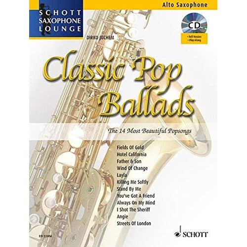 Classic Pop Ballads Saxophone +CD