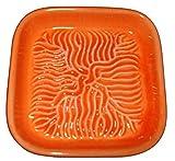 Ceramico Reibe (Orange) handwerklich gefertigte Keramik Reibe aus Finnland geeignet zum Reiben jedes essbaren Produktes wie Muskatnuss, Parmesan, Ingwer, Knoblauch und andere
