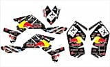 Red Bull 450Ltr individuell Graphics Aufkleber Aufkleber Kit gartenkompostierer mit 450