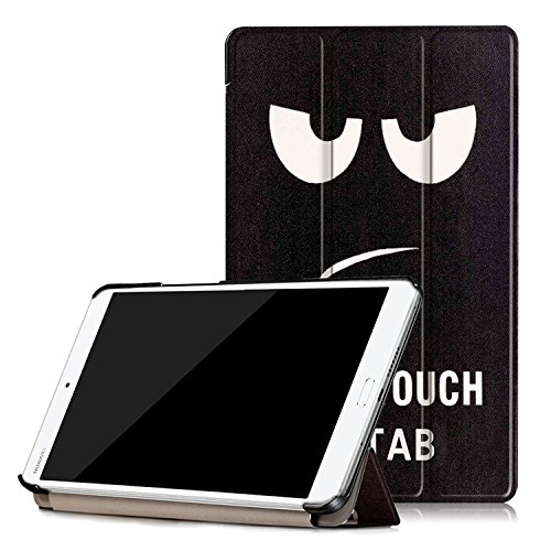 tinxi® Custodia case in pelle PU per Huawei Mediapad M3 8.4 pollici Tablet Flip-cover con supporto di stand e chiusura magnestica Colore donot touch my pad