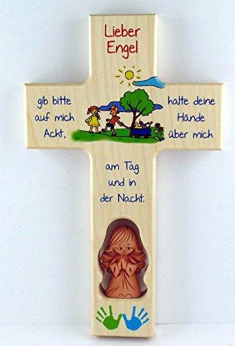 Kinderkreuz, Schutzengelkreuz, Schutzengel, Taufkreuz - Gib auf mich acht