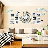 KTYX Pfau Massivholz Fotowand mediterrane moderne einfache Fotowand mit Uhr Bildrahmen