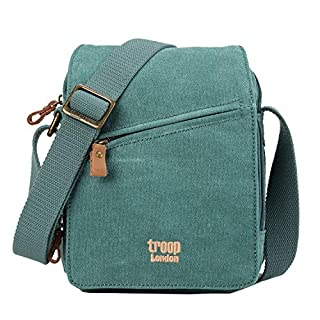 TRP0239 Troop London Classic Canvas Across Body Bag (Turquoise)