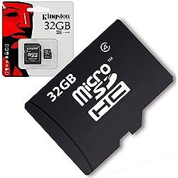 Acce2s - Carte Mémoire Micro SD 32 Go Classe 4 pour Samsung Galaxy J4+ - J6+ - J6 - J7 2017 - J3 2017 - J5 2017 - J3 2016 - J5 2016 - J1 2016 - J7 2016 - J5