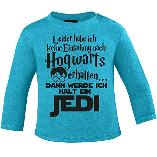 Mikalino Baby Longsleeve Leider Habe ich Keine Einladung nach Hogwarts erhalten. dann werde ich Halt Jedi, Farbe:Atoll, Grösse:92/98