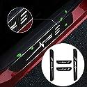 Cobear Einstiegsleiste Schutz Aufkleber Reflektierende Lackschutzfolie für A1 A3 A4 A5 A6 A7 A8 Q2 Q3 Q5 Q7 TT e-tron R8 RS Einstiegsleisten Weiß 4 Stück
