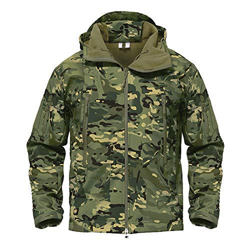 Armee Tarnung Männer Jacke Mantel schwarz militärische Taktische Winter Jagd wasserdichte Softshell-Jacke Green CP S (Für Männer Militärischen Jacken Winter)