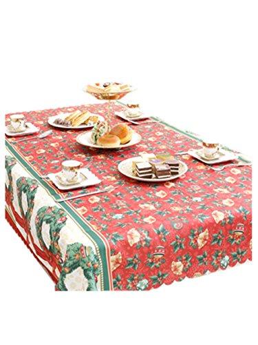 Malloom® Frohe Weihnachten Schneeflocken Rechteckige bedruckte Stoff Tischdecke (150*180cm, B) (Camp Lichter String)