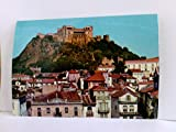 AK Leiria. The Town and the Castle. Portugal. Stadt und Burgansicht, Häuser, Schloß